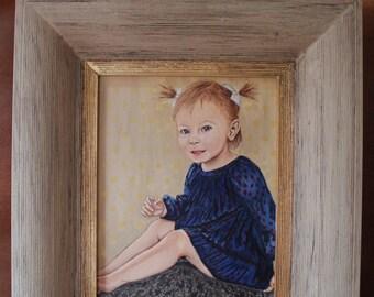 SOLD - Custom Portrait 'Lila' Acrylic on Canvas