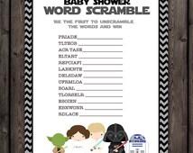 starwars baby shower word scramble game star wars baby shower game