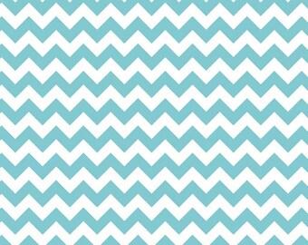 Aqua Blue Chevron Knit, by Riley Blake Designers, 1 yd