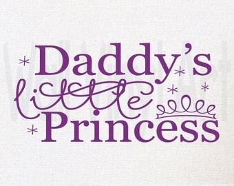 Daddy's Little Princess Vinyl Decal- Wall Art, Wall decor, Girls Bedroom, Nursery, Vinyl lettering, Sticker, Princess Decal