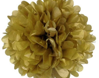 Gold Tissue Paper Pom Pom 12inch TPP120073 Just Artifacts Brand