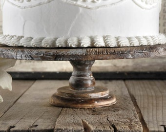 Rustic Wood Cake Stand Stands 4 Quot Tall And 11 1 2 Quot Wide