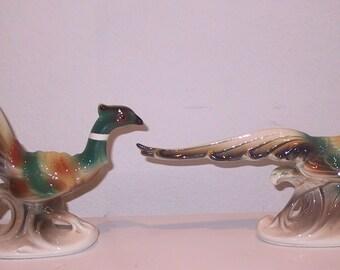 Set of  Vintage Pheasant Statues