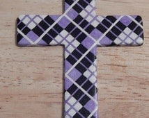 Purple Plaid hand painted leather saddle cross motorcycle cross horse tack rodeo barrel racing pole bending trail riding roping Western