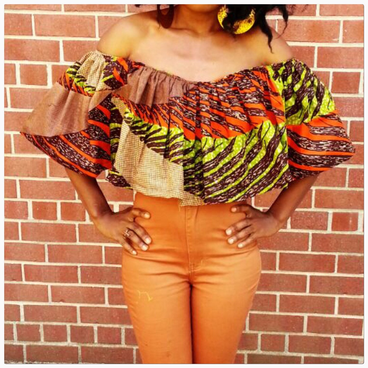African print top by Roshes on Etsy