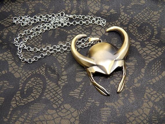 loki necklace thor the lokis helmet large pendant