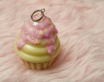 Cupcake pendant yellow sweet ;)