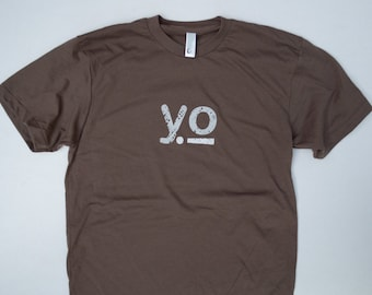 Yo T-Shirt, a stylish modern way to say hello. sceen print on american apparel threads.