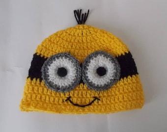 Minion crochet beanie hat