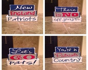 New England Patriots interchangeable blocks