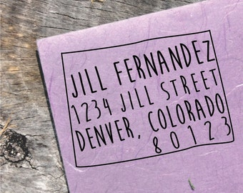 Colorado Address Stamp - Custom Colorado Address Stamp - Colorado Custom Stamp - Colorado Stamp - (DBJ_159_MAXS5050)