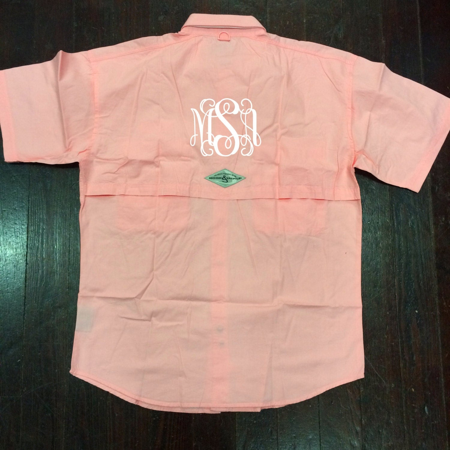 Columbia embroidered monogram pfg fishing shirt for Monogram fishing shirt