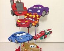 Disney Cars Inspired Centerpiece - Birthday Party Favor Decoration - Disney lightning mcqueen Cars Centerpiece Picks