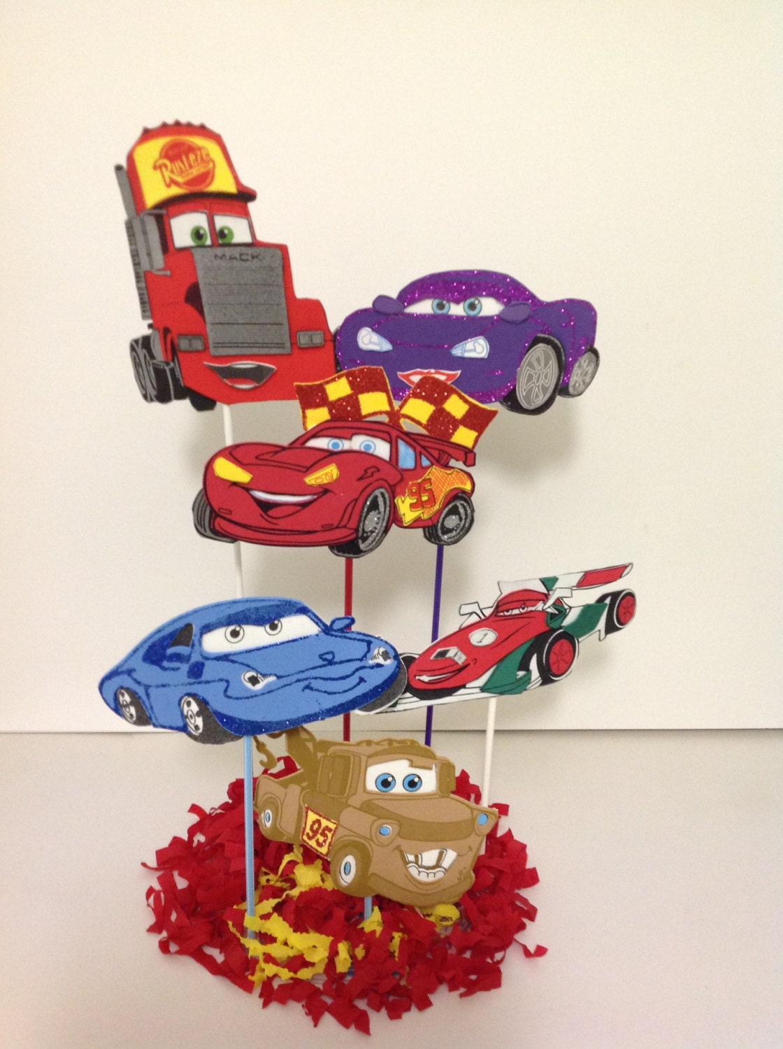 Cars Party Decorations Disney Cars Inspired Centerpiece Birthday Party Favor