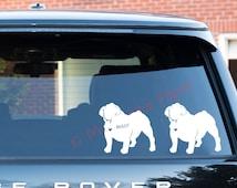 English Bulldog Decal | Personalized dog decal | Bulldog dog sticker with name | Personalized Dog Decal