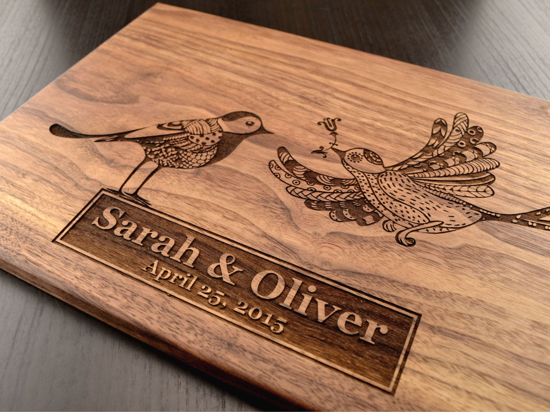 engraved cutting board custom wedding gift personalized