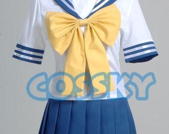 Lucky Star Cosplay Girl's Summer School Uniform Costume