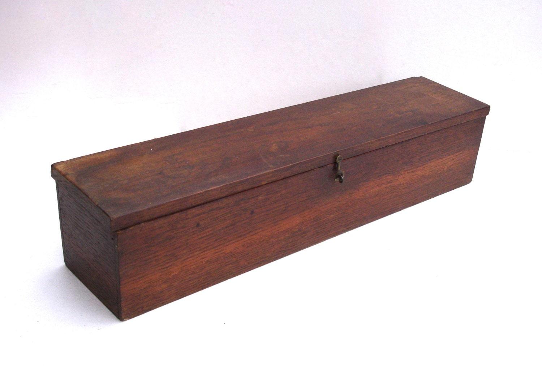 Knitting Needle Storage Box : Vintage wooden box storage knitting needle