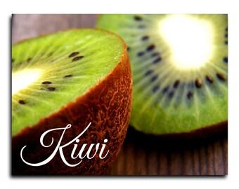 Kitchen art . Kiwi, Vegetables. Fine Art Photography. Colorful.  Poster  Wall art  decoration. Gift idea.