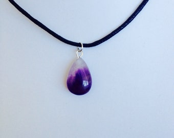 Purple Amethyst Drop Choker