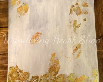 Gold Leaf Abstract Canvas
