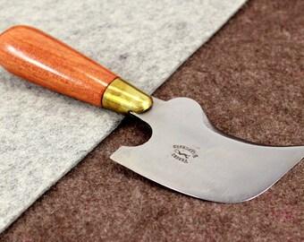Hawkbill Knife with Two Sharp Edges Vergez Blanchard/Knife for Leather/Leather Cutting Tool/Saddlers Knife/Hawkbilled Skinner