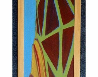 Peinture du tronc arbre etsy for Peinture sur bois verni