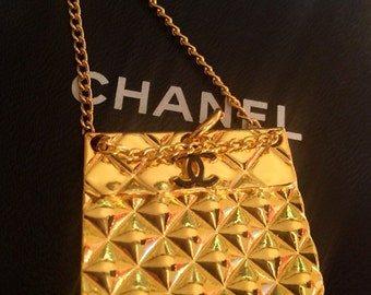 Chanel Gold Plated Pendant.