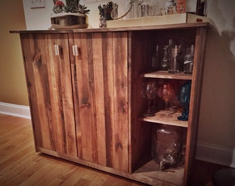 Reclamied Style Wood Buffet Cabinet