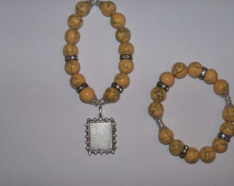 Lemon Ice Beaded Bracelet Set