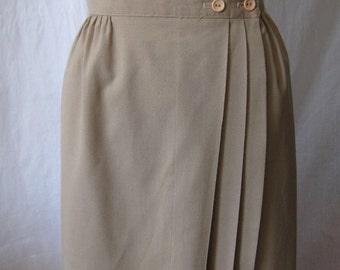 vintage skirt; long skirt; spring skirt; beige vintage skirt; wrap skirt; midi skirt; cotton skirt; womens skirts; vintage womens skirts