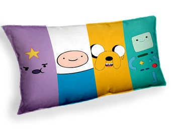 adventure time jake fine bmo an princess lumpy - Custom Geek Fabric Cushion Pillow cover Home Decor Thrown Pillow With Inner