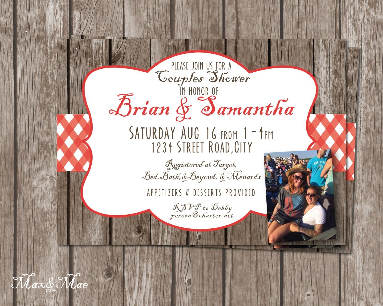Bridal shower picnic – Picnic Invitation