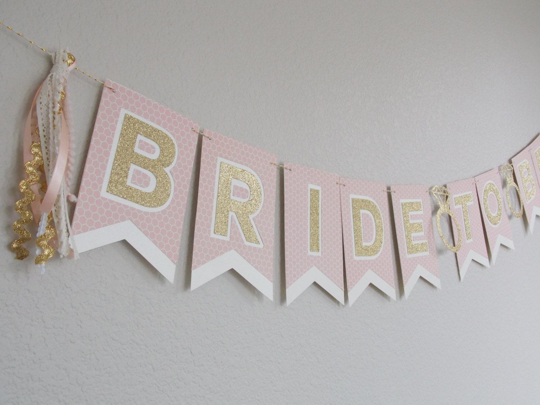 Bride to Be bridal shower banner Blush pink cream by JulesandKenna