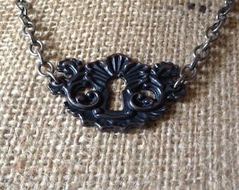 Fancy Keyhole Necklace