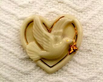Vintage Lenox Peaceful Heart Pin