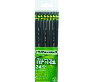 24 Drawing Pencils, Sketching Pencils, #2 HB; 24 Box Dixon Ticonderoga Wood Cased Graphite Pro Pencils; Artists Set
