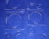 """10 Piece Nested Penny Rug Set 1/8"""" Acrylic - Rug/Quilting/Embroidery Templates"""