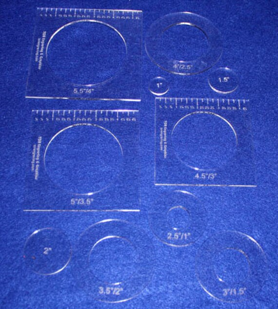 10 Piece Nested Penny Rug Set 1 8 Acrylic