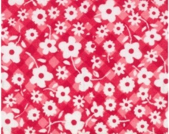 red floral fabric, 1/4 metre of more, quilting fabric, quilting fabric online Australia