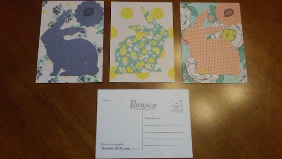 Rabbit Postcards - Set of 4