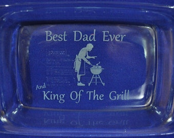 Dad Gift ~ Engraved Pan ~ Birthday Gift For Dad ~ Engraved Gift ~ Gift For Husband ~ Gift For Men ~ Fathers Day Gift ~ Gift For Cook ~ Grill
