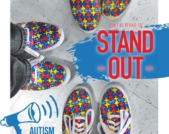 Autism Awareness Puzzle Piece Shoes