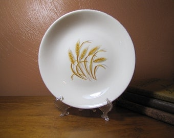 Vintage Golden Wheat Shallow Bowl