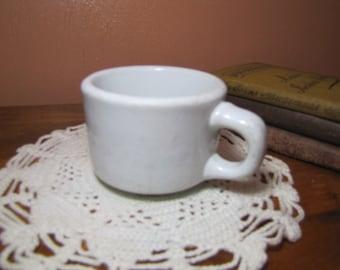 Vintage Heavy White Mug Made By The Trenle Blake China Co., Ravenswood, W VA