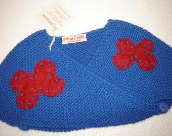 Wrap Bluette with red butterflies for girls of 3/4 years