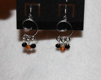 Black & Orange Chandeliers