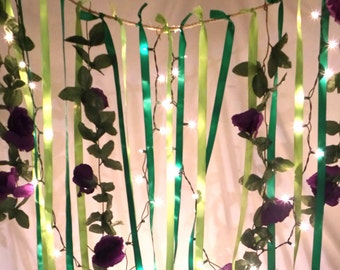 Forest Themed Ribbon Curtain Photo Backdrop and Decor