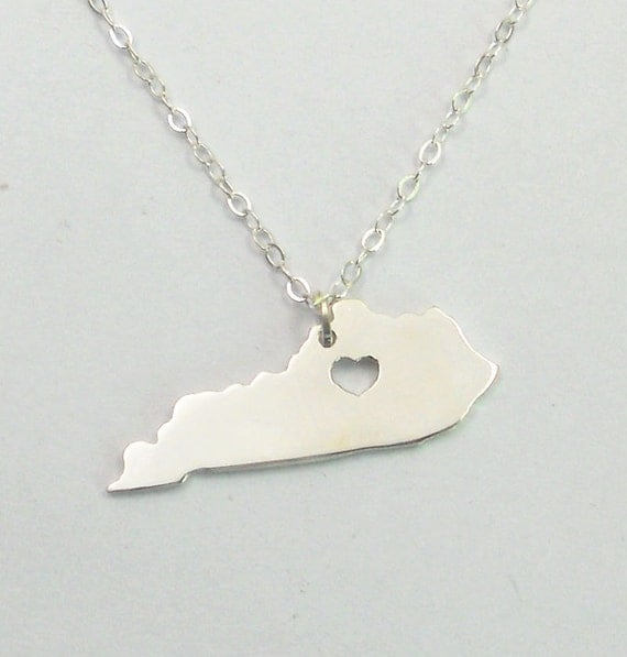 kentucky state necklace silverky state charm by