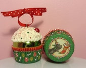 "Christmas Cupcake Ornament - ""All I Want for Christmas is You"""